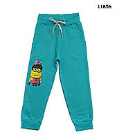 Теплые штаны Minions для девочки. 104, 110, 116, 122, 128 см
