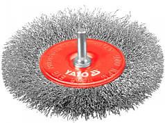 """Щітка - крацовка YATO """"ПЛОСКА"""" зі стержнем Ø=100мм"""