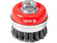 Щітка - крацовка YATO *чашка* Ø=75мм
