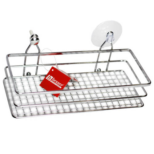 Полка для ванной Besser прямоугольная 25*11*9см