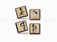 Формы для шоколада с переводным рисунком Modecor — Свадебный квадрат