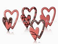 Формы для шоколада с переводным рисунком Modecor — Сердца двойные 34225