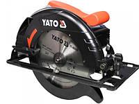 Пила дискова ручна мережева YATO YT-82153 W= 2 кВт, для диска Ø= 235/25,4 мм, кут 0-45°