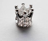 Бусина серебряная Шарм Корона 610110