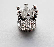Намистина срібна Шарм Корона 610110