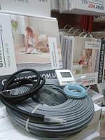 Теплый пол электрический GrayHot на 10м2 тонкий кабель 102м двухжильный