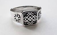 Кольцо серебряное Оберег Белобог и Коловрат 302 52