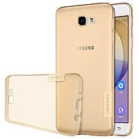 TPU чехол Nillkin Nature Series для Samsung G570F Galaxy J5 Prime (2016) золотой(проз