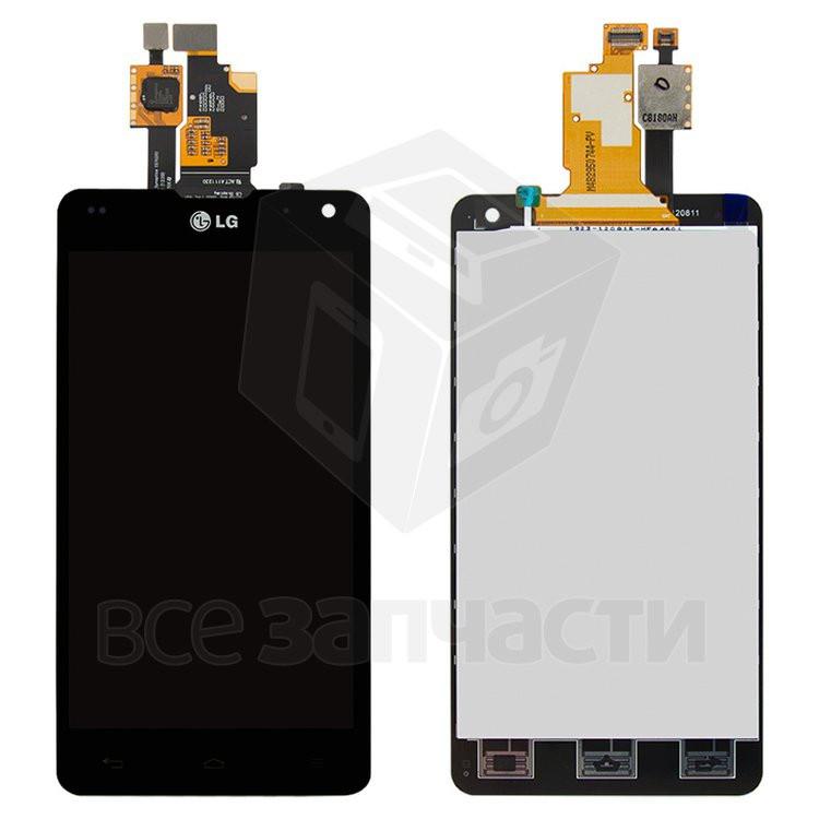 Дисплей для мобильных телефонов LG F180L, черный, с сенсорным экраном