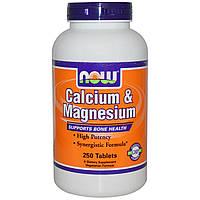 Now Foods, Кальций и Магний 250 таблеток