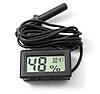Гигрометр Термометр Влагомер Градусник с выносным датчиком цифровой Черный