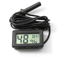Гигрометр Термометр Влагомер Градусник с выносным датчиком цифровой Черный, фото 1