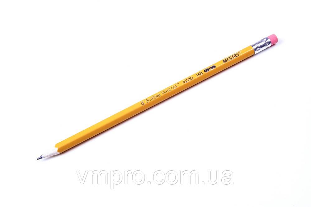 Карандаши MARCO графит.с ластиком HB (4200)