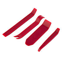 Набор инструментов (съемников) для снятия обшивки салона, панелей авто, магнитол, удаления клипс (4 шт.).