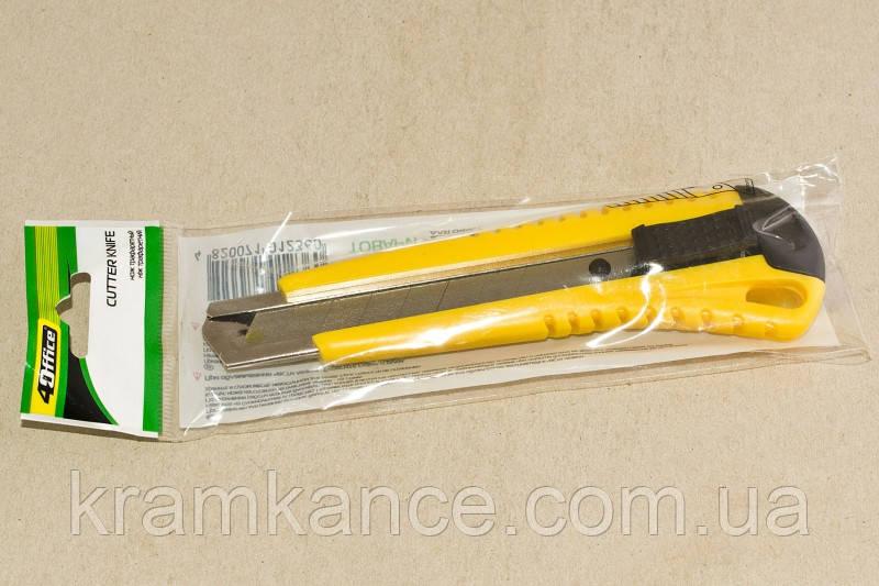 Нож канцелярский 4Office 4-313 18мм