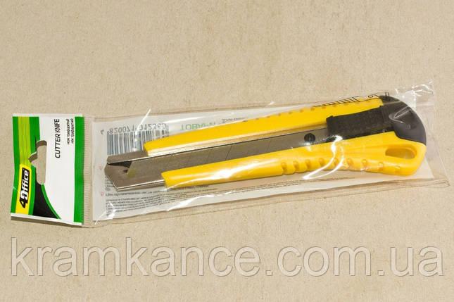 Нож канцелярский 4Office 4-313 18мм, фото 2