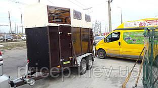 Прицеп для перевозки двух лошадей 3,2м х 1,6м. Тормозные торсионы!