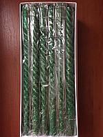 Ароматизированные зеленые свечи с блёстками 27 см