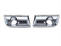 GMC Terrain 2010-15 хромовые решетки накладки на передний бампер Новые Оригинал