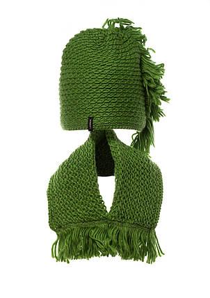 Тепла в'язана молодіжна шапочка для дівчат від Loman Польща, фото 2
