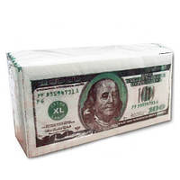 Салфетки столовые Luxy Доллар 3-х слойные 33*33  10 шт