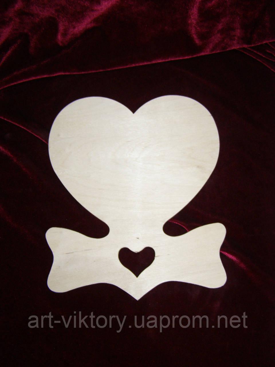 Сердце панно с бантиком