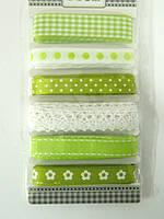 Лента тканевая зеленая