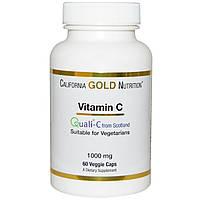 California Gold Nutrition, Витамин C, Quali-C Европейского производства, 1000 мг, 60 растительных ка
