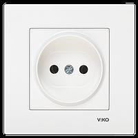 Розетка без заземления белая Viko (Вико) Karre (90960007)