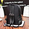 Молодежный стеганый рюкзак черного цвета, фото 2