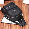Молодежный стеганый рюкзак черного цвета, фото 5
