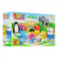 Конструктор  зоопарк, фигурка, животные, 23детали, в коробке