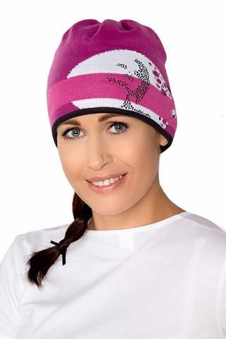 Теплая вязанная женская шапочка спортивного стиля от Loman Польша