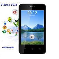 Мобильный телефон android V-hope V918 на 2сим ( GSM / CDMA ) полностью на английском языке!!!