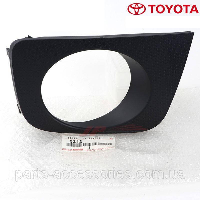 Toyota 4Runner 2005-09 правая решетка в передний бампер Новая Оригинальная
