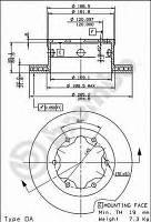 BREMBO 09.8475.10 Диск тормозной задний MB Sprinter 406-416/VW LT 46