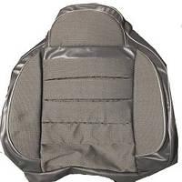 Чехлы универсальные Pilot B кожзам серый + ткань светло-серая (с карманом)
