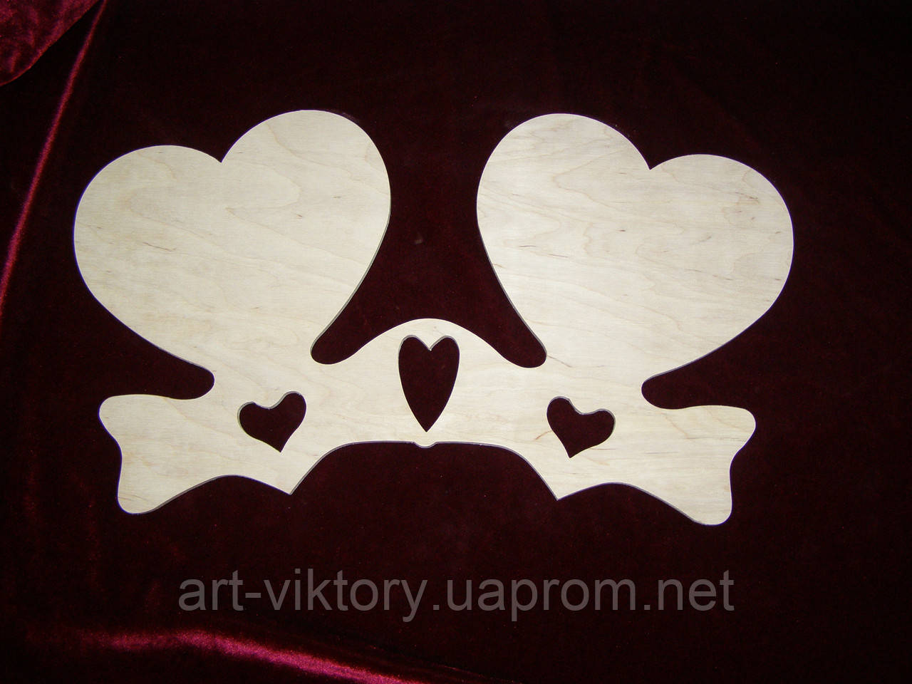 Панно сердце двойное