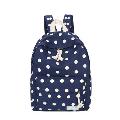 Рюкзак для школы в горошек