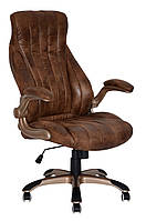 Кресло для руководителя Conor бронзовое светло-коричневое