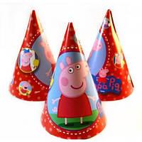 """Колпак праздничный """"Свинка Пеппа"""" 16 см."""