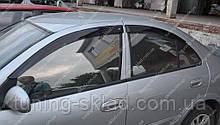 Вітровики вікон Ніссан Альмера Класік (дефлектори бокових вікон Nissan Аlmera Classic)