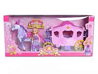 Карета 05012 1334774 12шт с лошадкой, муз, ходит, куколкой, в кор.