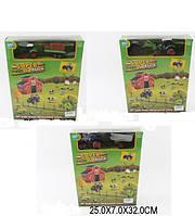 Игровой набор метал NZ7040T7041T7042T. Farm&Truck 142617456 24шт2 3 вида в коробке 36,51913,5см