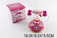 Муз.телефон HM557-32 1523427 48шт2 Hello Kitty,батар,свет,звук,в кор.161615,5см