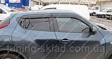 Вітровики вікон Ніссан Жук (дефлектори бокових вікон Nissan Juke)