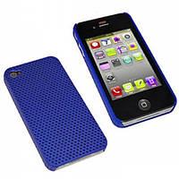 Перфорированный чехол для iPhone 4, 4s - StarCase ( цвет: синий, розовый)