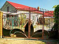 Ворота кованые Опера-2, Опера - 2 плюс