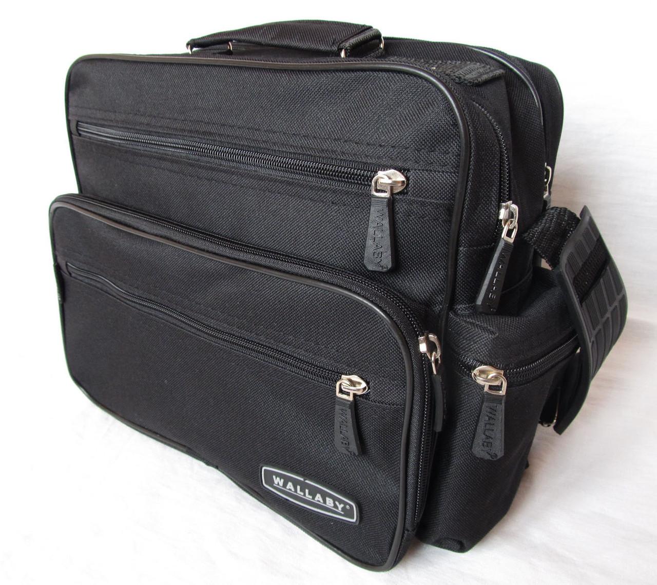 bc41d5a769f2 Мужская сумка Wallaby 2440 черная барсетка через плечо портфель 29х24х15см  - Интернет-магазин