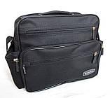 Мужская сумка барсетка через плечо портфель в2440 черная 29х24х15см, фото 3